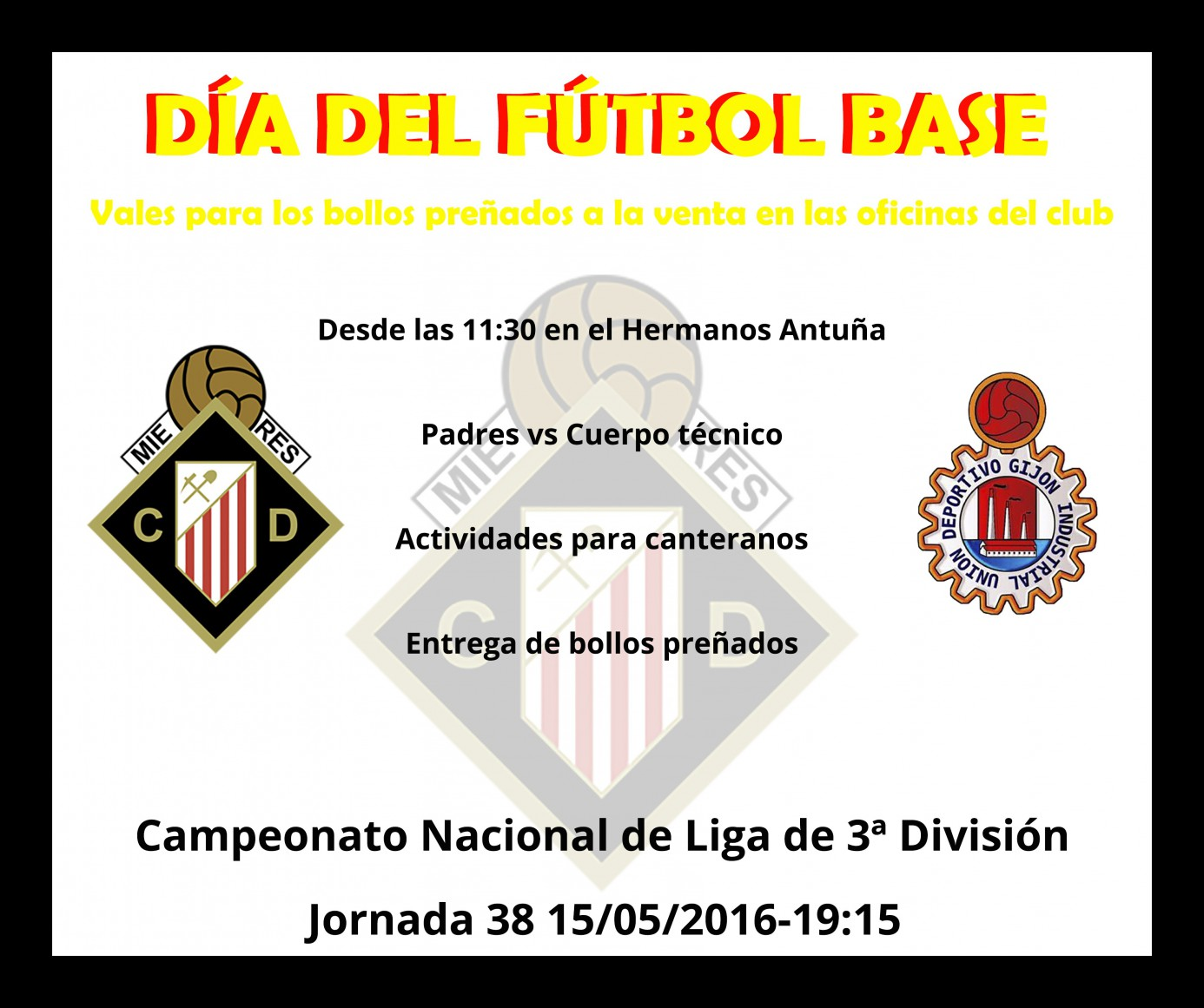 Cartel Partido vs Industrial (Futbol Base)
